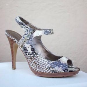 Preview International Snakeskin Print Heels
